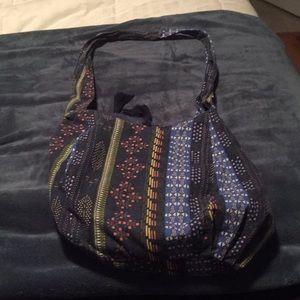 Blue pattern hobo bag